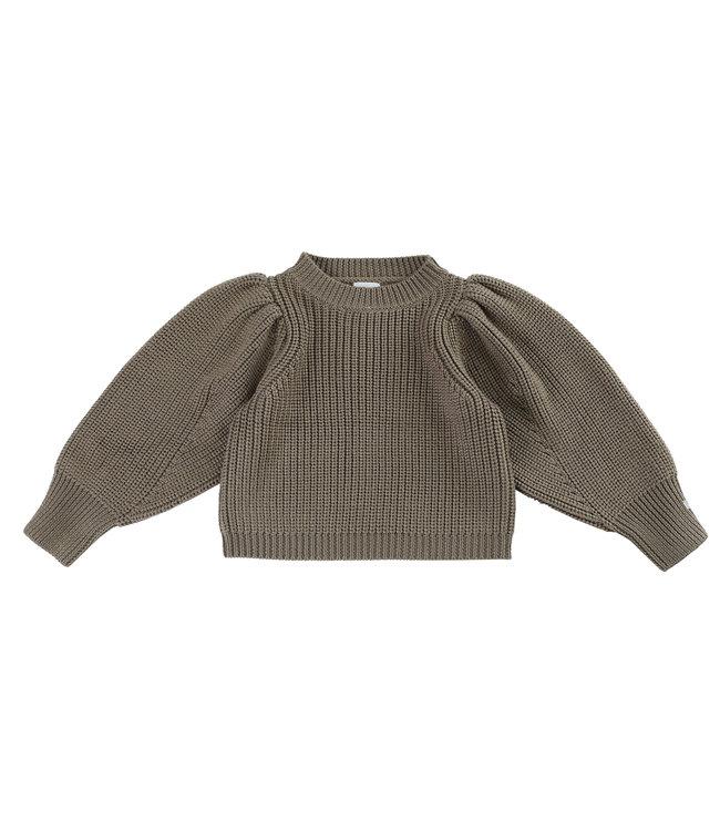 Donsje Megan sweater Forest Brown melange