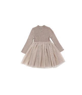 Donsje Lotus dress Rose grey