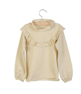 Little Hedonist Ruffled longsleeve Lucy bleached Sand