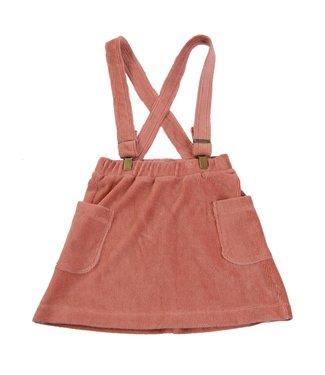 Little Hedonist Shoulder strap skirt Mia Old rose