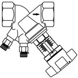Komfort (Nathan Import/Export B.V.) INREGELAFSLUITER PN25 DN25 1