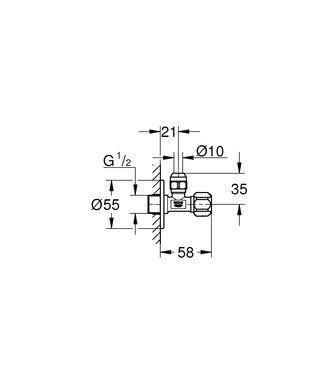 Grohe STOPKRSAN 1/2X3/8 KNEL