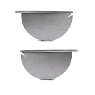 Wentzel zinken separatieschot set links/rechts voor mastgoot M44 dikte=0.80mm 1610021300