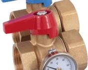 Henco kogelkraan met wartelmoer en thermometer