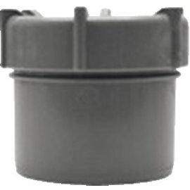 Pipelife PVC EINDDOP M/SCHROEF 200