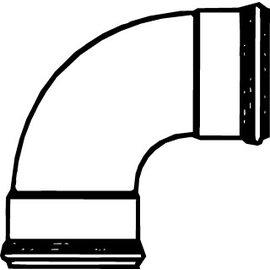 Pipelife PVC BOCHT 90   2XMOF   125
