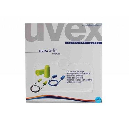 Uvex X-Fit oordoppen | SNR 37dB | Ergonomisch design | 200 paar