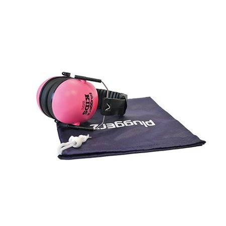 Pluggerz Kinder oorkap roze | Beschermd tegen lawaai, verhoogd de concentratie