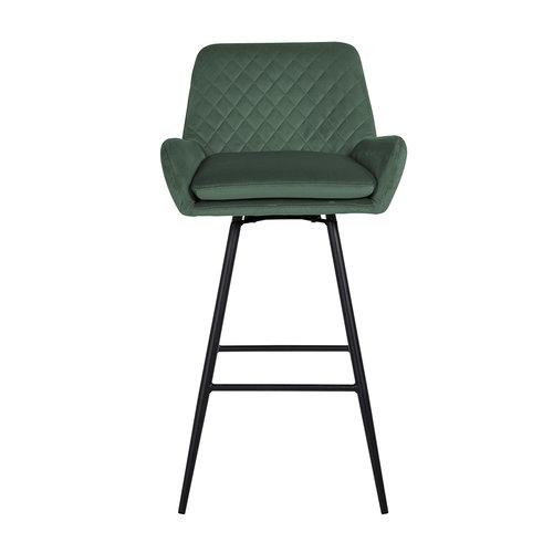 Richmond Interiors  Barstoel Linsey draaibaar Green Velvet (Quartz Green 501)