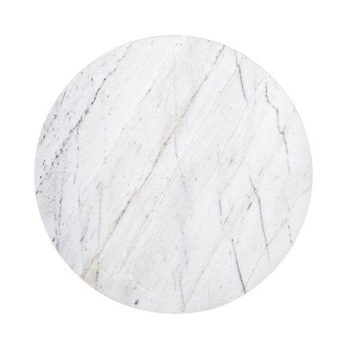 Richmond Interiors  Bijzettafel Lexington white rond 40Ø (White)