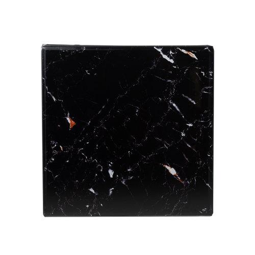 Richmond Interiors  Bijzettafel Dante met zwart marble look (Zilver)