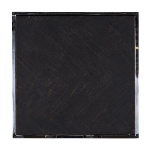Richmond Interiors  Bijzettafel Blackbone silver 50x50 (Zilver)