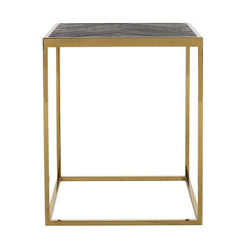 Richmond Interiors  Bijzettafel Blackbone gold 50x50 (Goud)
