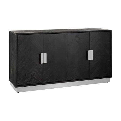 Richmond Interiors  Dressoir Blackbone silver 4-deuren (Zilver)