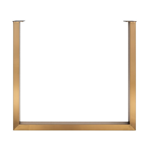 Richmond Interiors  Alleen set legs U-poot brushed gold (Brushed Gold)