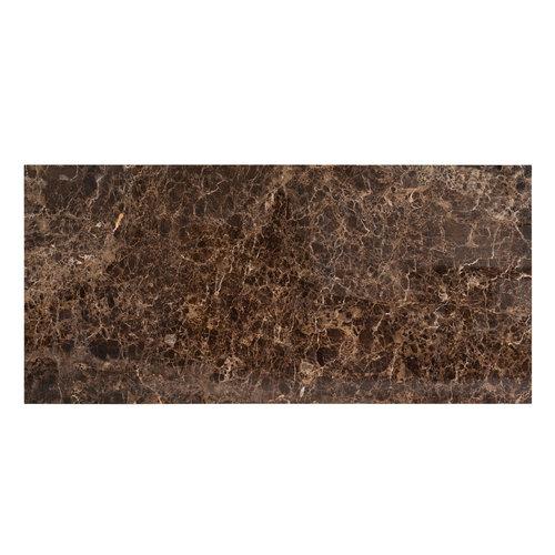 Richmond Interiors  Eettafel Dalton brown emperador 200x94 (Bruin)