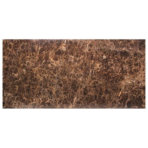 Richmond Interiors  Eettafel Dalton brown emperador 230x94 (Bruin)