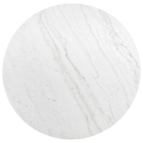 Richmond Interiors  Eettafel Lexington white rond 130Ø (White)