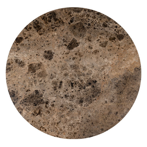 Richmond Interiors  Eettafel Orion 140Ø met bruin marmer (Bruin)