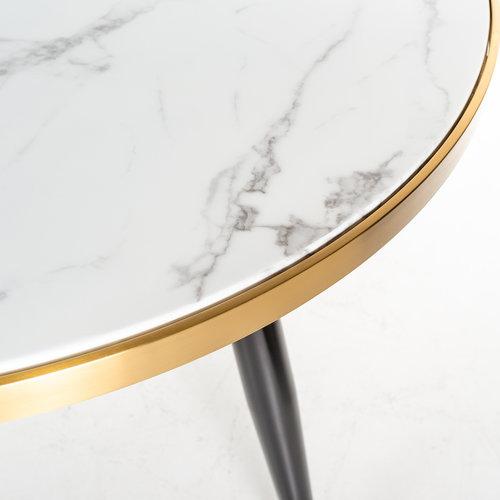 Richmond Interiors  Eettafel Delia 130Ø (Brushed Gold)