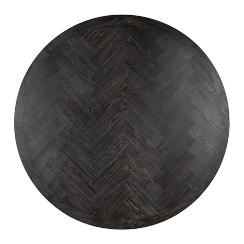 Richmond Interiors  Eettafel Blackbone gold rond Ø140 (Goud)