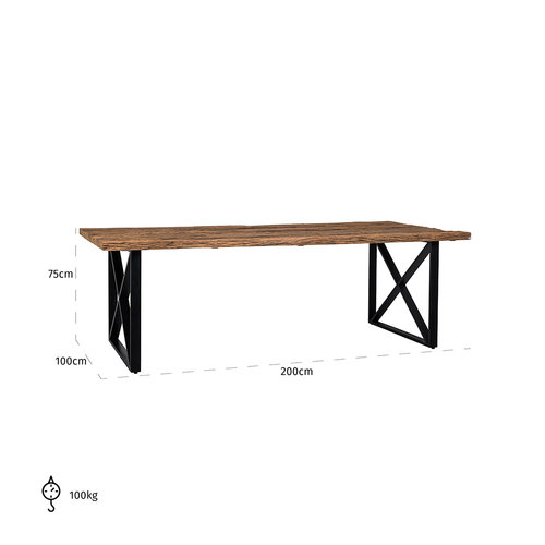 Richmond Interiors  Eettafel Industrial Kensington 200x100