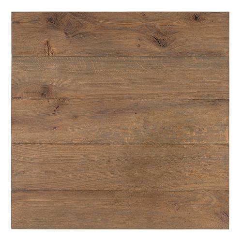 Richmond Interiors  Eettafel Gastronomy Oak 4cm dik, 70x70, enkele poot vierkant