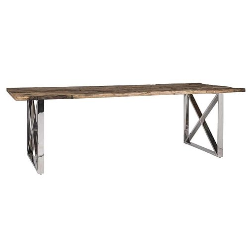 Richmond Interiors  Eettafel Kensington 240x100 (Zilver)