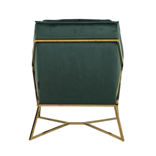 Richmond Interiors  Fauteuil Aurelia Green velvet / gold (Quartz Green 501)