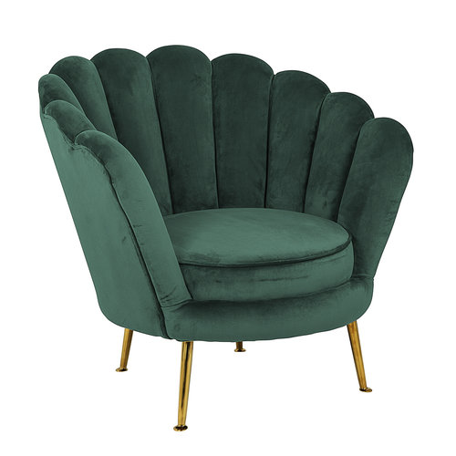 Richmond Interiors  Fauteuil Perla Green Velvet (Quartz Green 501)