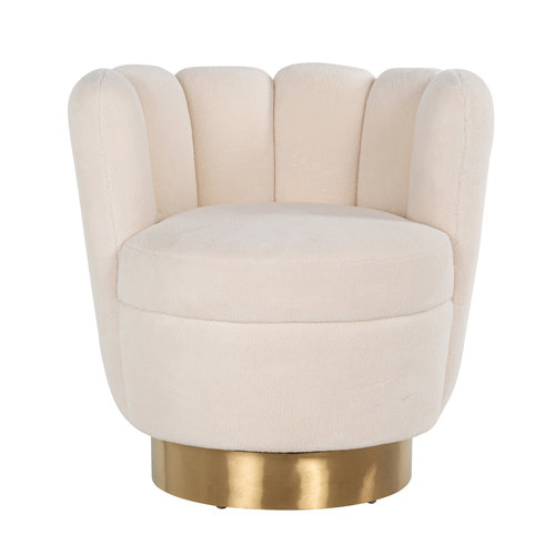 Richmond Interiors  Fauteuil Mayfair Faux sheep / Brushed gold ()