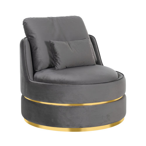 Richmond Interiors  Fauteuil Kylie Stone velvet / gold (Quartz Stone 101)