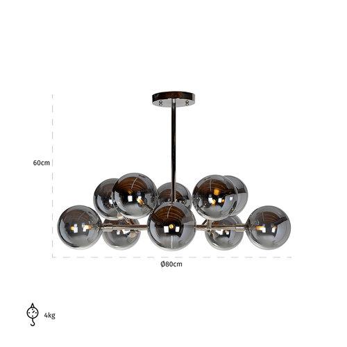 Richmond Interiors  Hanglamp Riley (G9 fitting) (Zilver)