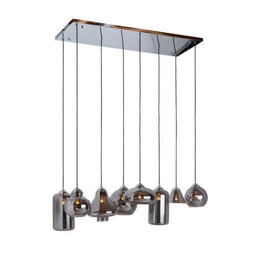 Richmond Interiors  Hanglamp Crosley met 8 verschillende lampen (Zilver)