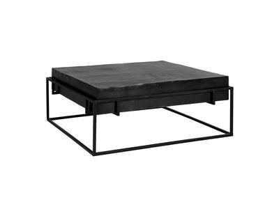 Richmond Interiors  Salontafel Bolder aluminium zwart (Zwart)