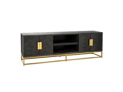 Richmond Interiors  TV-dressoir 185 Blackbone gold 4-deuren (Goud)