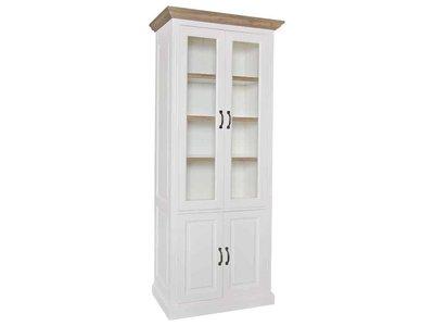 Richmond Interiors  Vitrine Oakdale 2x2-deuren 3-planken (Ral 9010)