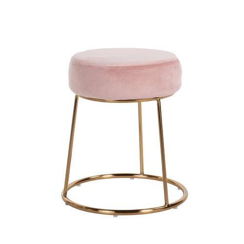 Richmond Interiors  Kruk Rory Pink Velvet / goud (Quartz Pink 700)