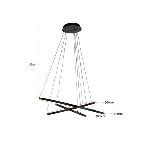 Richmond Interiors  Hanglamp Amira black (Zwart)