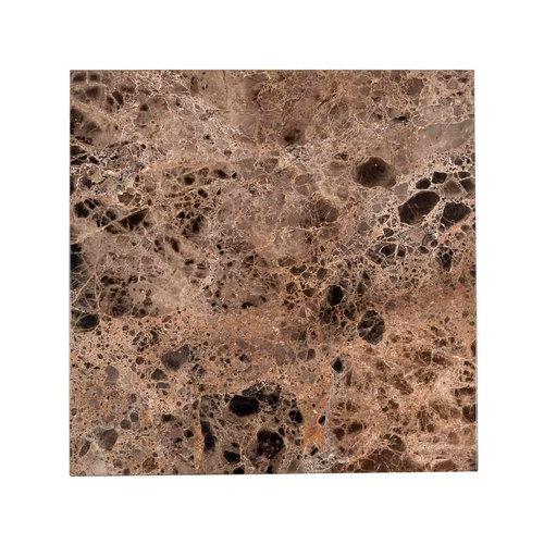 Richmond Interiors  Bijzettafel Orion met bruin marmer (Bruin)