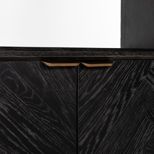 Richmond Interiors  Boekenkast Blackbone Brass 2-deuren (Brushed Gold)