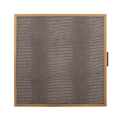 Richmond Interiors  Ladenkast Classio 3-laden Vegan Leather (Brushed Gold)