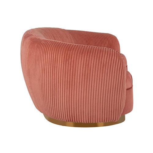 Richmond Interiors  Bank Waylon Pink velvet + rib (Roze)