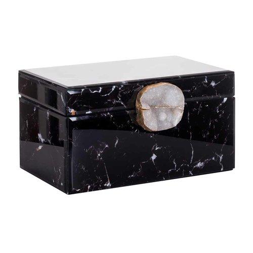 Richmond Interiors  Juwelen box Maeve zwart marmer look (ZZZ-Zwart)