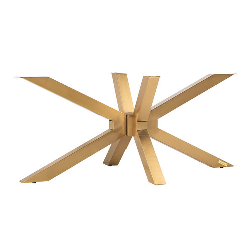 Richmond Interiors  Alleen salontafel X-poot Brushed goud (Brushed Gold)