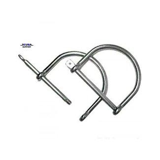 D-ring RVS als harpsluiting