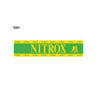DirZone Nitrox sticker voor op de duikfles 65x15cm