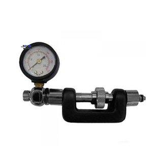 2nd stage adjustment tool with intermediate pressure gauge