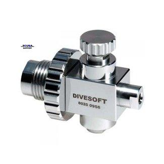 Divesoft Flow reduceer voor o.a. Zuurstof en Helium analyzer 200/300 bar DIN