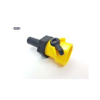 Scuba Support BC and wing flush connector with valve